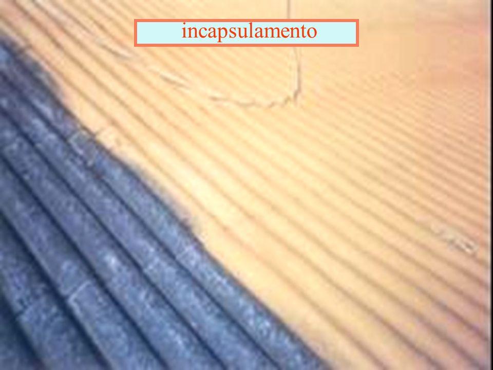Il Decreto 20 agosto 99 Classifica le tipologie del rivestimento per manufatti in cemento amianto in 4 classi : A: a vista allesterno B: a vista dall