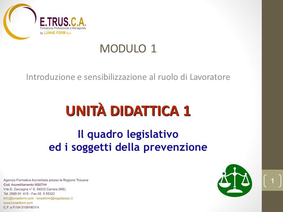 Videoterminali Posto di lavoro Lavoratore La legislazione italiana attribuisce i seguenti significati ai termini: Art.