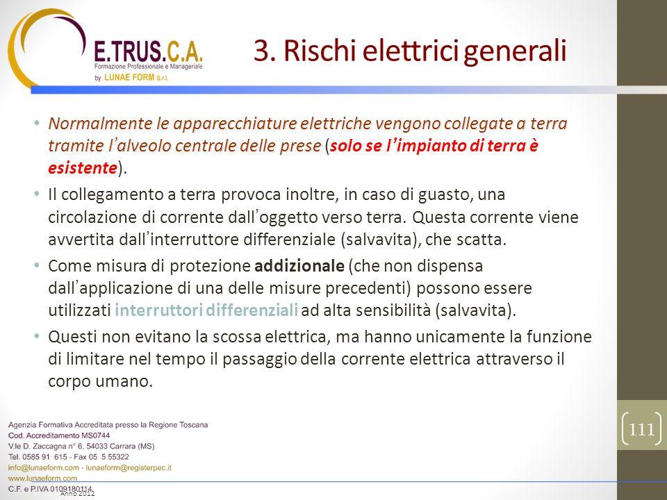 Anno 2012 Normalmente le apparecchiature elettriche vengono collegate a terra tramite lalveolo centrale delle prese Normalmente le apparecchiature ele