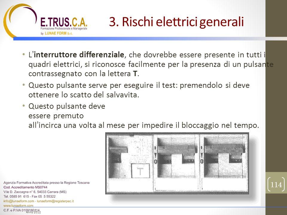 Anno 2012 Linterruttore differenziale, che dovrebbe essere presente in tutti i quadri elettrici, si riconosce facilmente per la presenza di un pulsant