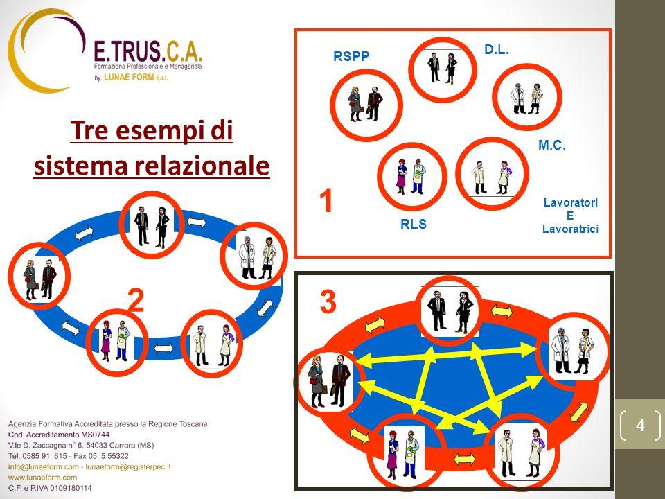 Il sistema relazionale (esempio 1) D.L.RSPP RLS Lavoratori E Lavoratrici M.C.