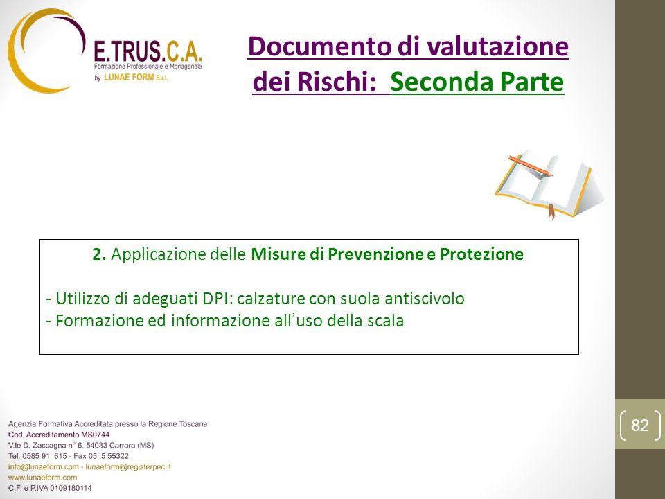 2. Applicazione delle Misure di Prevenzione e Protezione - Utilizzo di adeguati DPI: calzature con suola antiscivolo - Formazione ed informazione allu