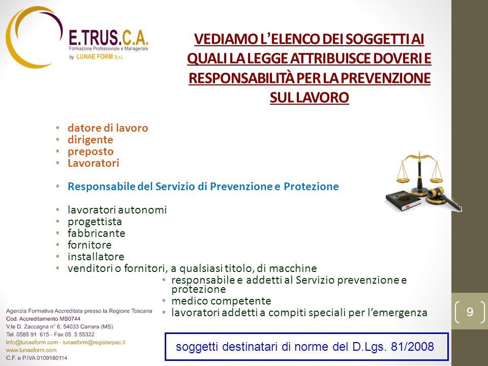 CONCETTO DI RISCHIO, PROBABILITÀ E DANNO; 50 LA VALUTAZIONE DEI RISCHI