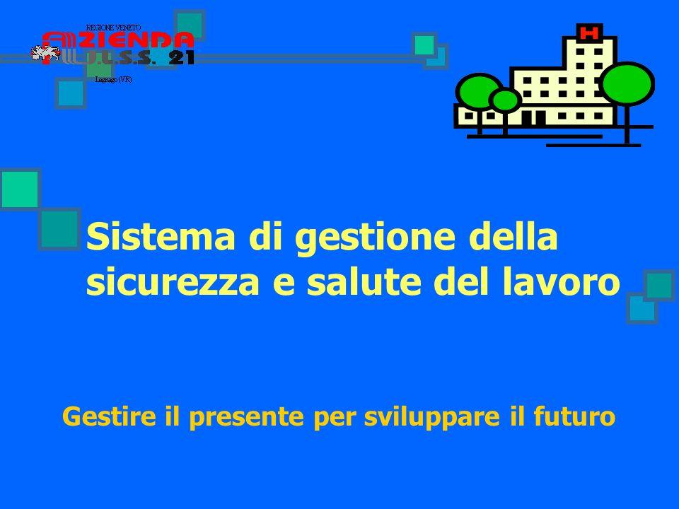 Sistema di gestione della sicurezza e salute del lavoro Gestire il presente per sviluppare il futuro