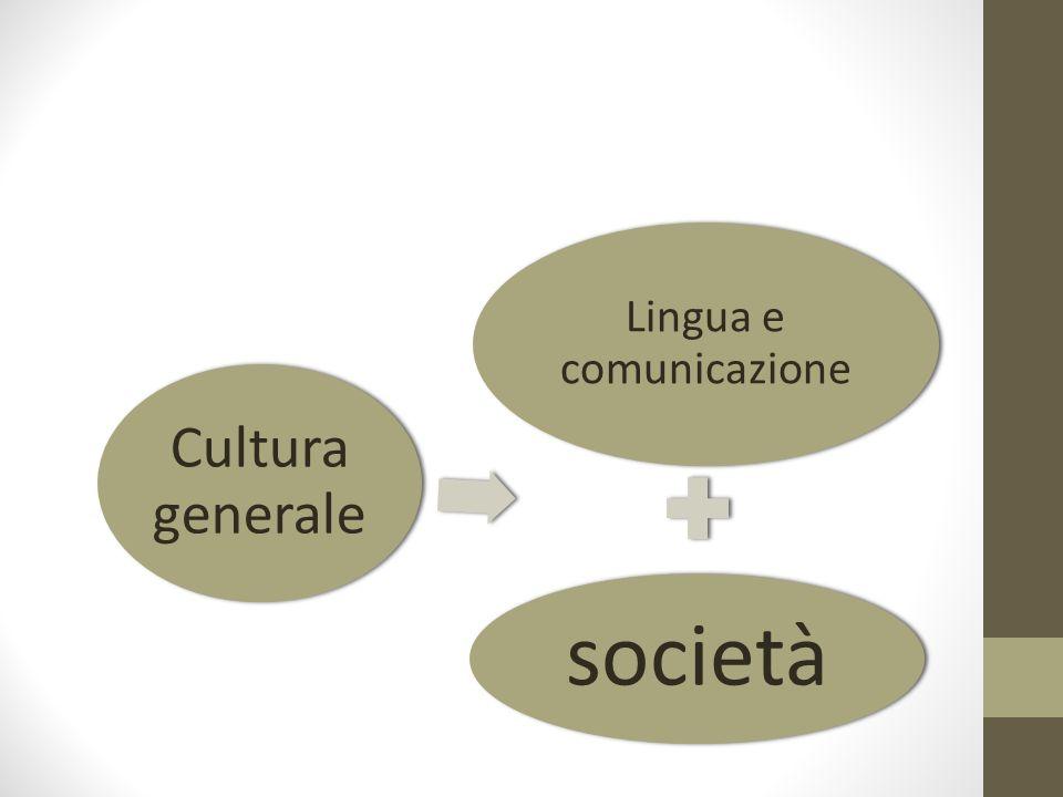 Lingua e comunicazione società Cultura generale