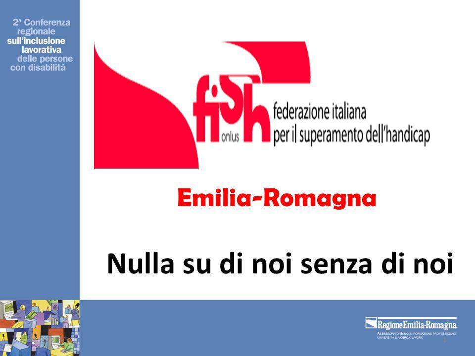 Emilia-Romagna Nulla su di noi senza di noi 31/03/20141