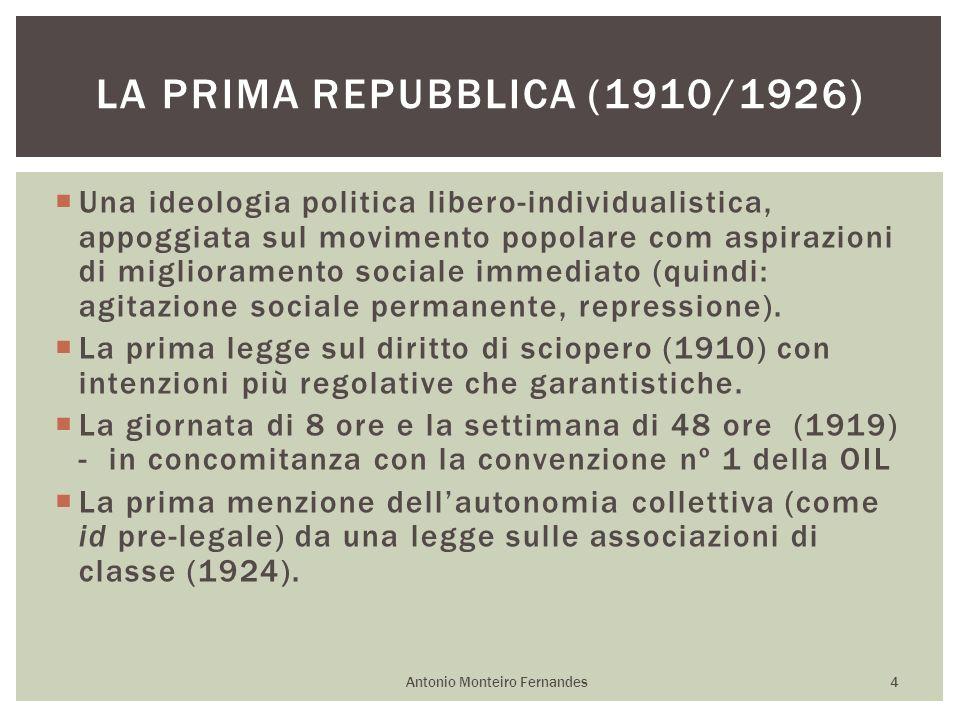 Una ideologia politica libero-individualistica, appoggiata sul movimento popolare com aspirazioni di miglioramento sociale immediato (quindi: agitazio
