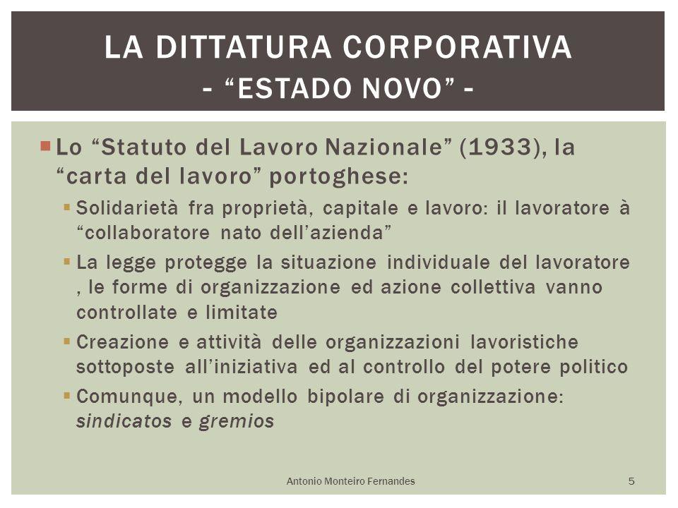 Lo Statuto del Lavoro Nazionale (1933), la carta del lavoro portoghese: Solidarietà fra proprietà, capitale e lavoro: il lavoratore à collaboratore na