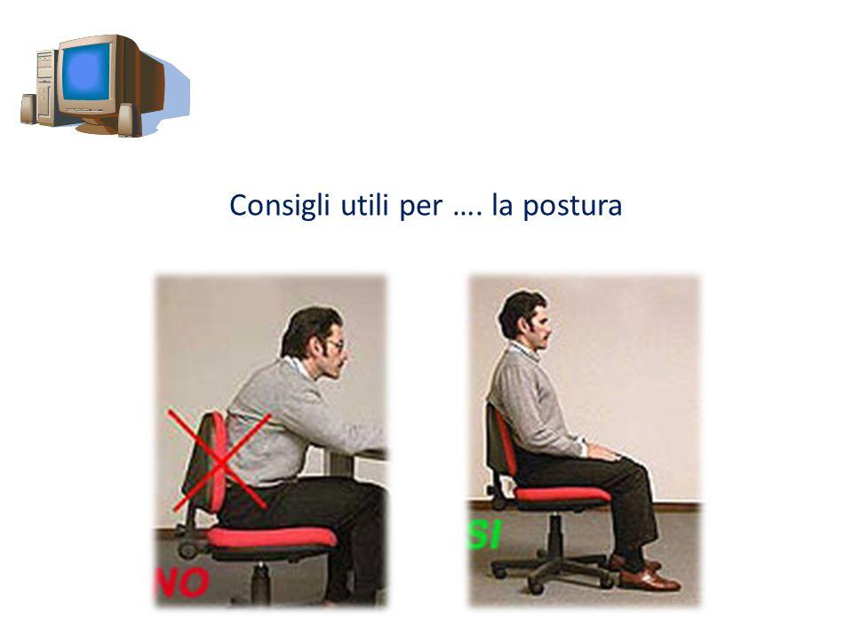 Consigli utili per …. la postura