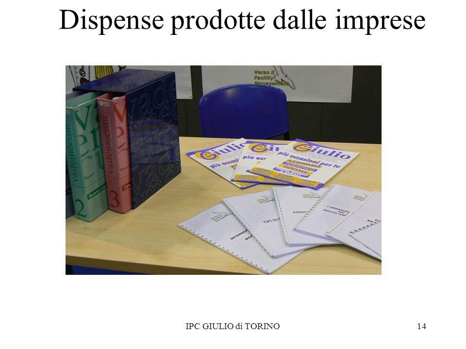 Dispense prodotte dalle imprese 14IPC GIULIO di TORINO