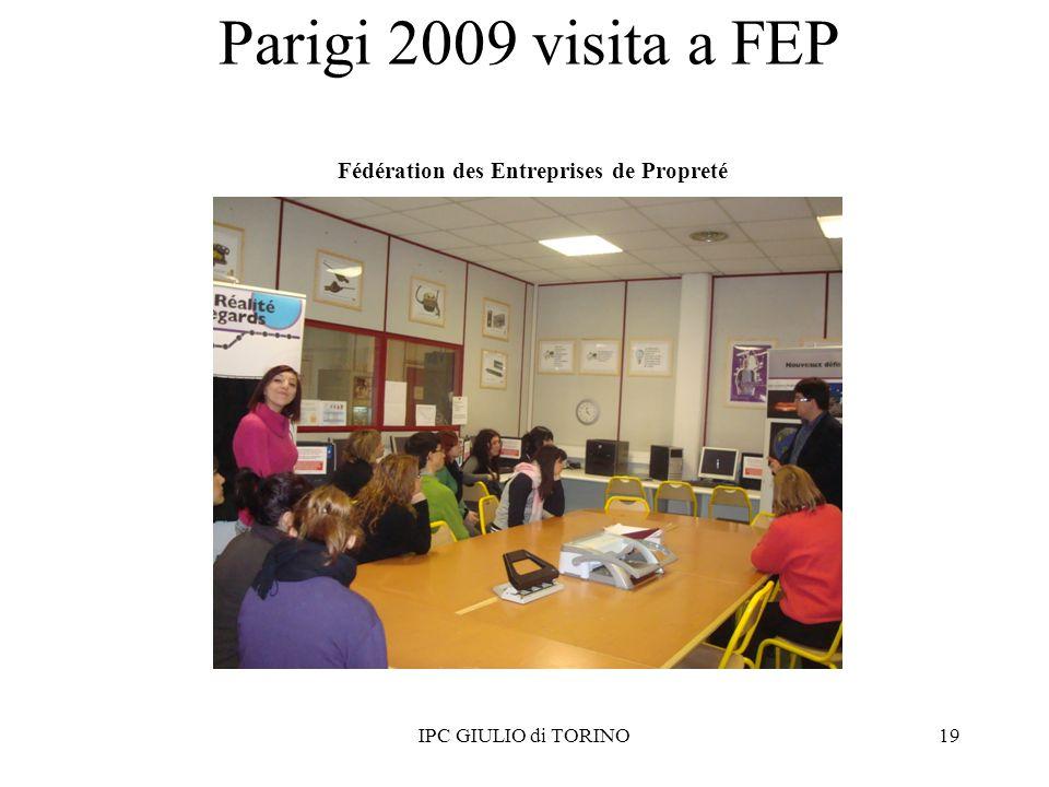 Parigi 2009 visita a FEP Fédération des Entreprises de Propreté 19IPC GIULIO di TORINO