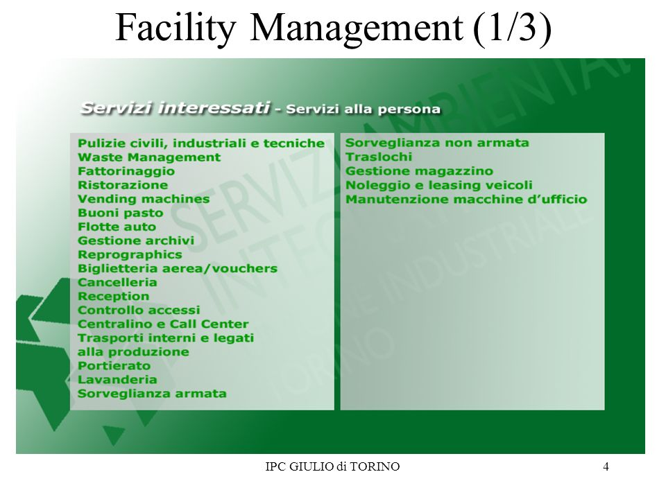 4 Facility Management (1/3)