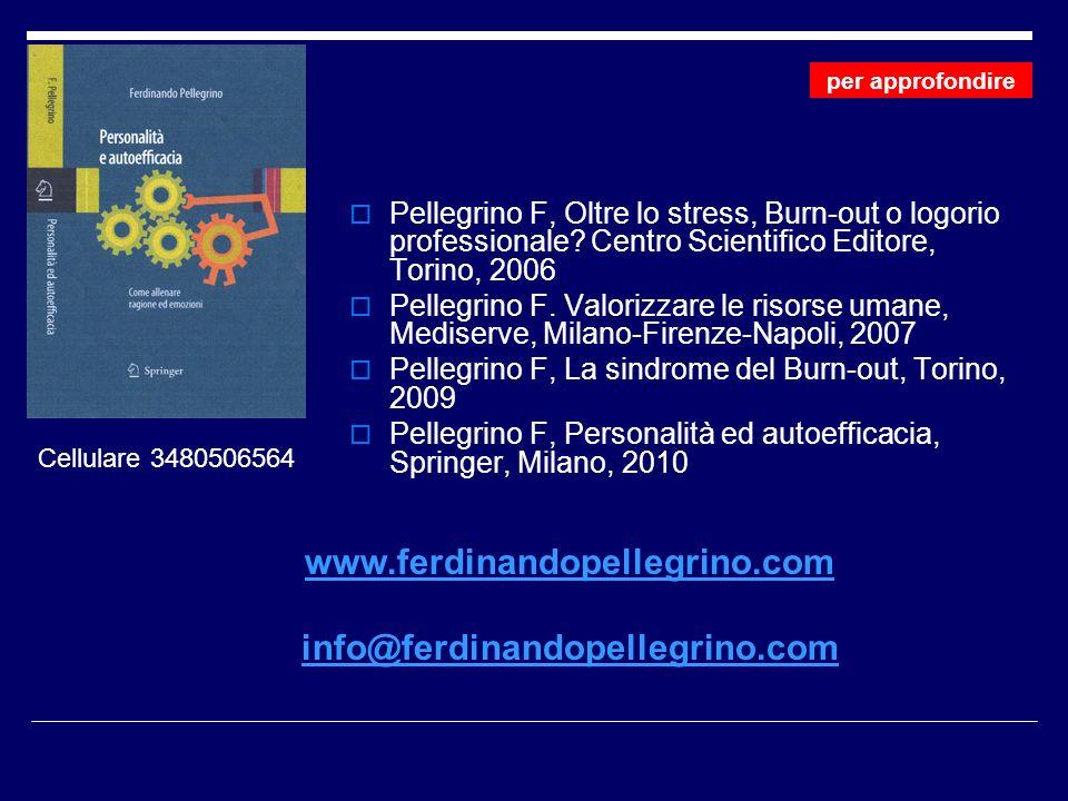 Pellegrino F, Oltre lo stress, Burn-out o logorio professionale.