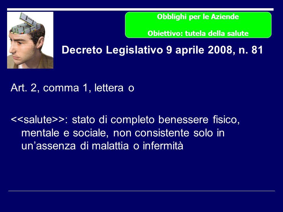 Decreto Legislativo 9 aprile 2008, n. 81 Art.