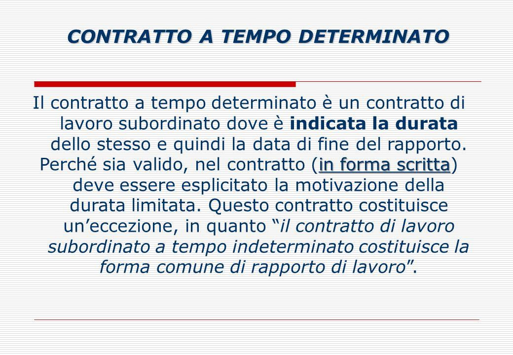 Il contratto a tempo determinato è un contratto di lavoro subordinato dove è indicata la durata dello stesso e quindi la data di fine del rapporto.