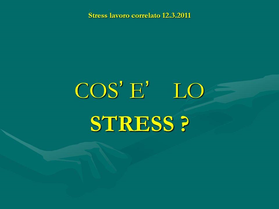 COS E LO STRESS ?
