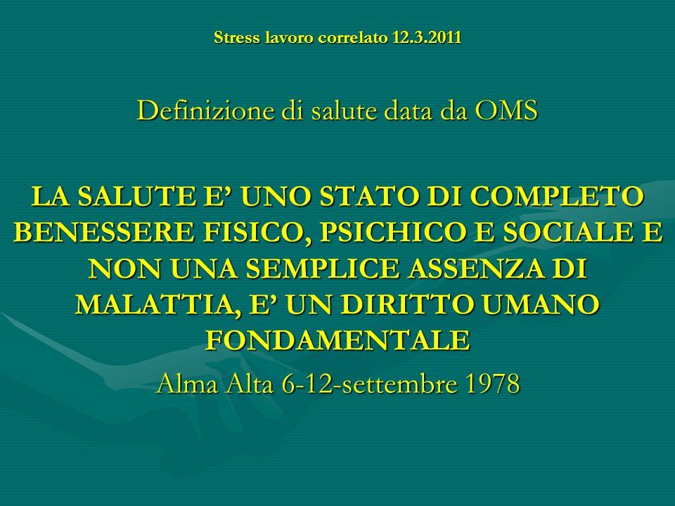 Stress lavoro correlato 12.3.2011 LO STRESS PUO ESSERE : FISIOLOGICOOPATOLOGICO