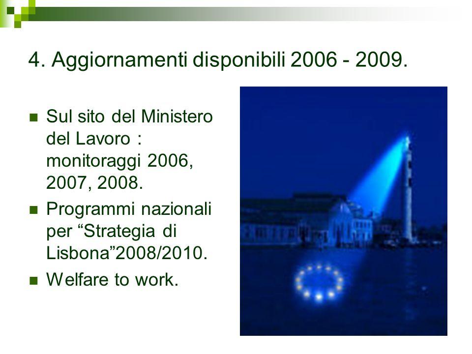4. Aggiornamenti disponibili 2006 - 2009.