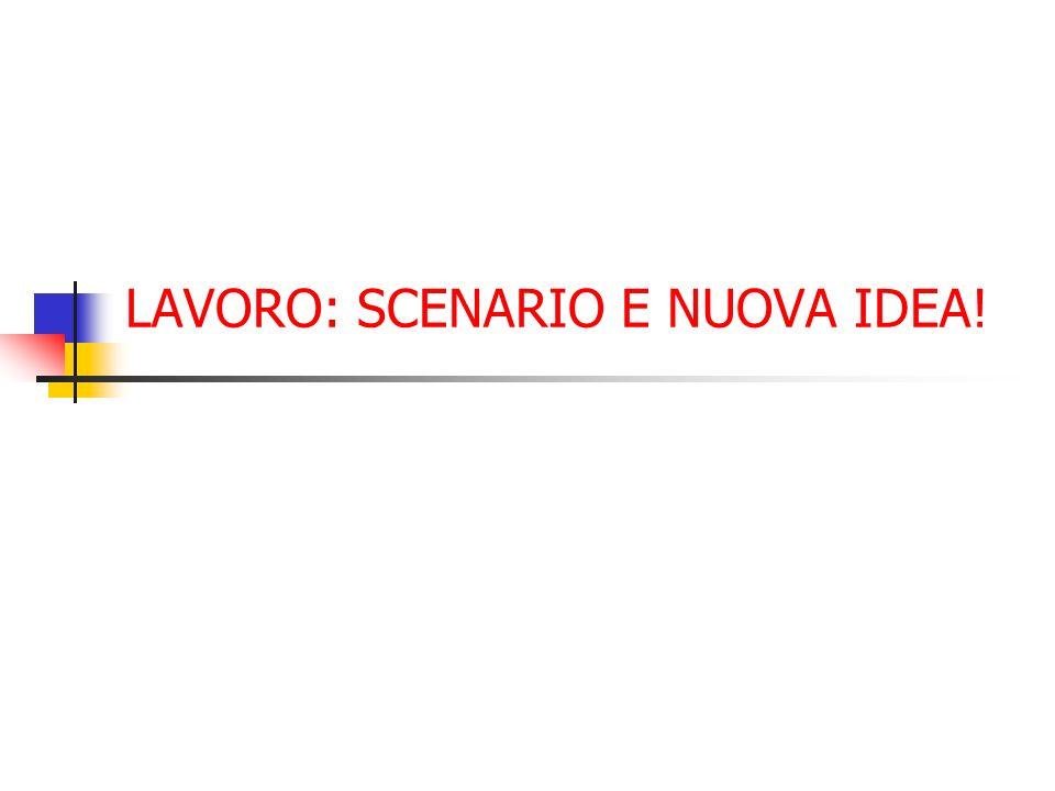 LAVORO: SCENARIO E NUOVA IDEA!