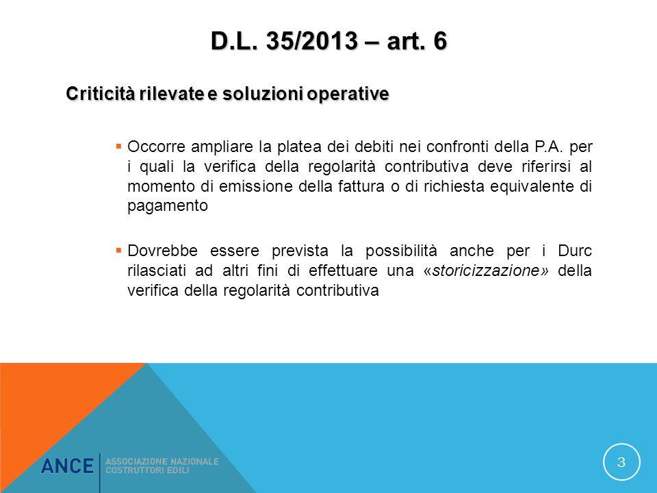 D.L. 35/2013 – art.