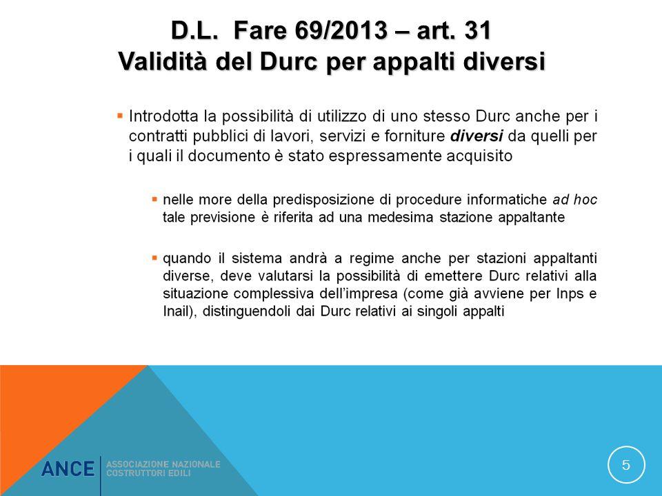D.L.Fare 69/2013 – art.
