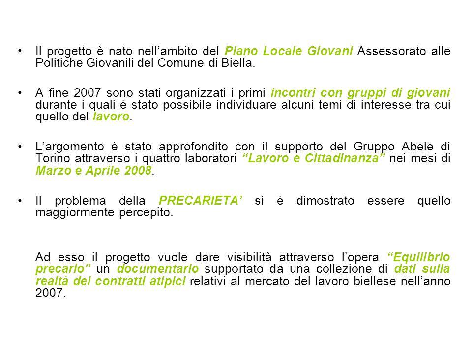 Il progetto è nato nellambito del Piano Locale Giovani Assessorato alle Politiche Giovanili del Comune di Biella.