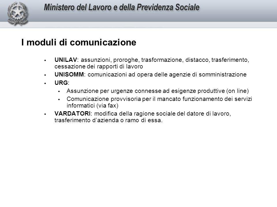 I termini per le comunicazioni UNILAV: Assunzione: entro le h.