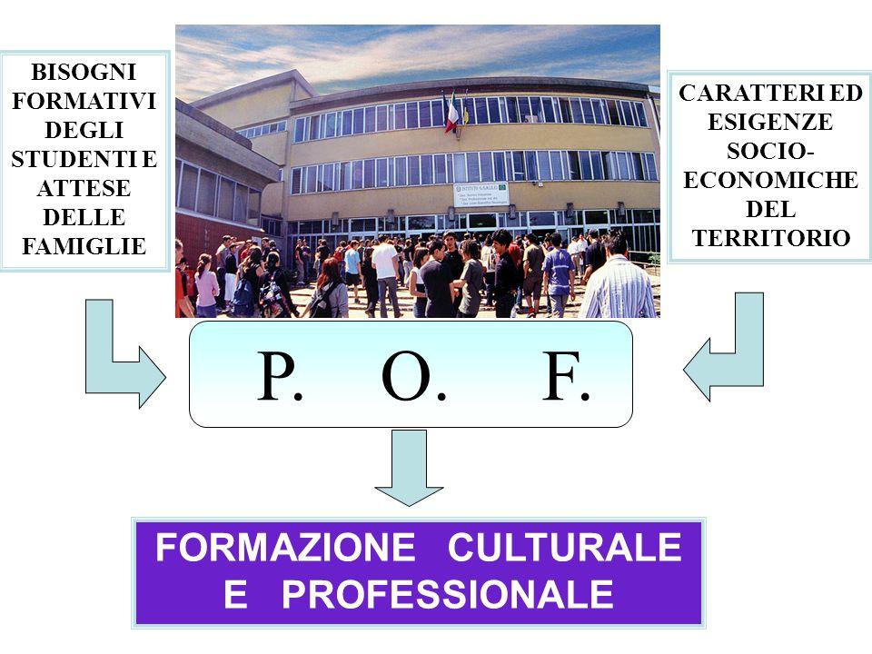 FORMAZIONE CULTURALE E PROFESSIONALE P.O. F.