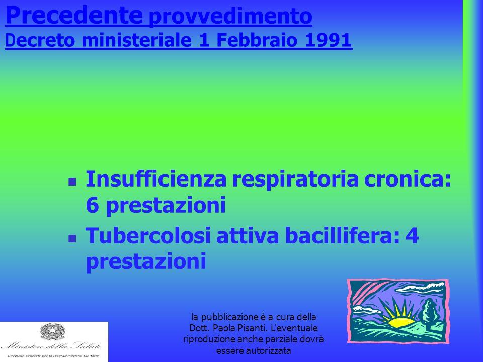 la pubblicazione è a cura della Dott. Paola Pisanti. L'eventuale riproduzione anche parziale dovrà essere autorizzata Precedente provvedimento D ecret