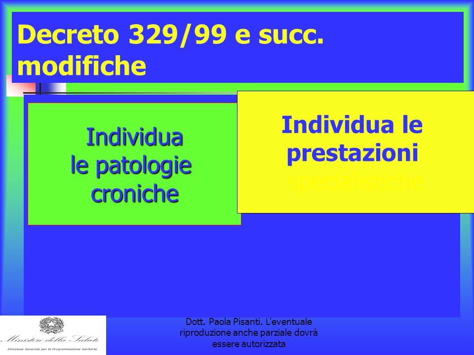 la pubblicazione è a cura della Dott. Paola Pisanti. L'eventuale riproduzione anche parziale dovrà essere autorizzata Decreto 329/99 e succ. modifiche