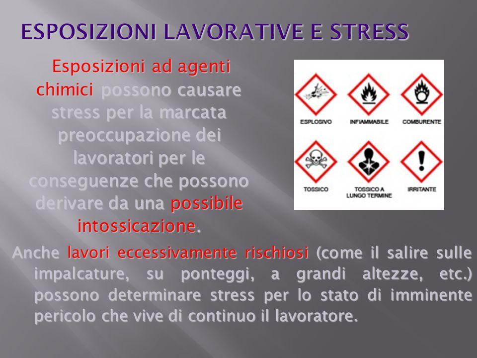 Anche lavori eccessivamente rischiosi (come il salire sulle impalcature, su ponteggi, a grandi altezze, etc.) possono determinare stress per lo stato