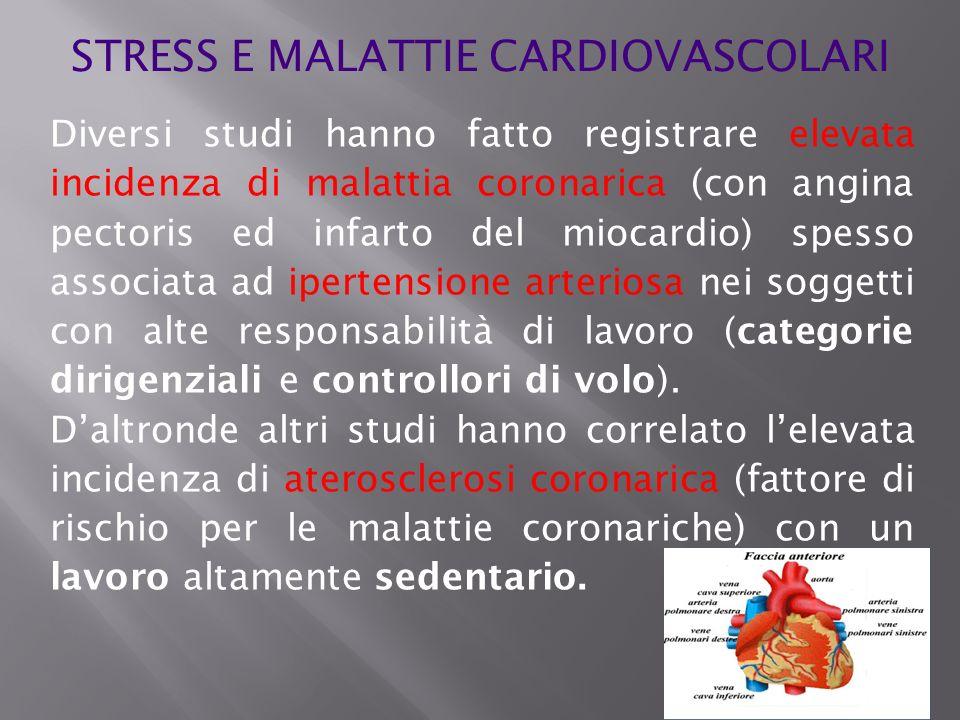 Diversi studi hanno fatto registrare elevata incidenza di malattia coronarica (con angina pectoris ed infarto del miocardio) spesso associata ad ipert