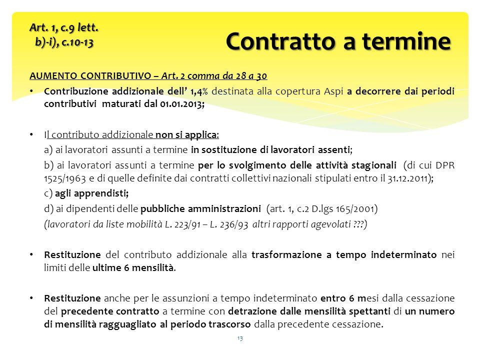 AUMENTO CONTRIBUTIVO – Art.