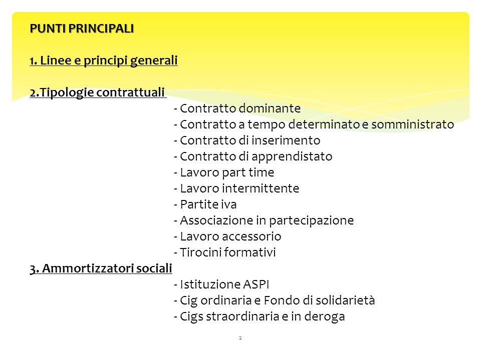 PUNTI PRINCIPALI PUNTI PRINCIPALI 1.