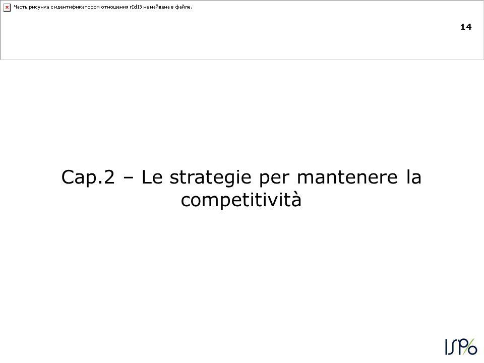 14 Cap.2 – Le strategie per mantenere la competitività
