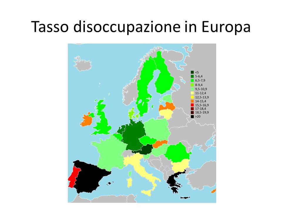 Tasso disoccupazione in Europa