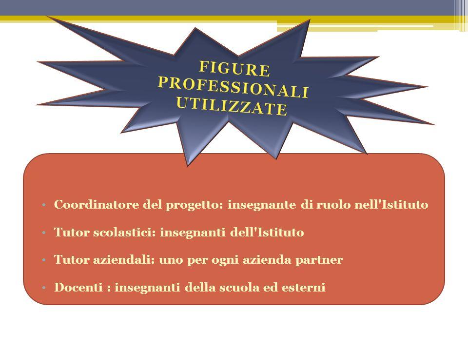 Coordinatore del progetto: insegnante di ruolo nell'Istituto Tutor scolastici: insegnanti dell'Istituto Tutor aziendali: uno per ogni azienda partner