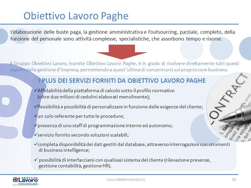 Affidabilità della piattaforma di calcolo sotto il profilo normativo (oltre due milioni di cedolini elaborati mensilmente); flessibilità e possibilità