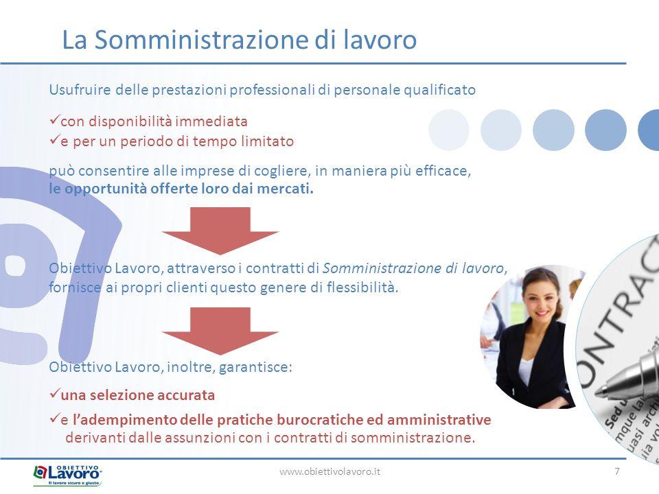 www.obiettivolavoro.it7 Usufruire delle prestazioni professionali di personale qualificato con disponibilità immediata e per un periodo di tempo limit