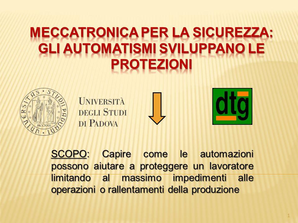SCOPO: Capire come le automazioni possono aiutare a proteggere un lavoratore limitando al massimo impedimenti alle operazioni o rallentamenti della produzione 1