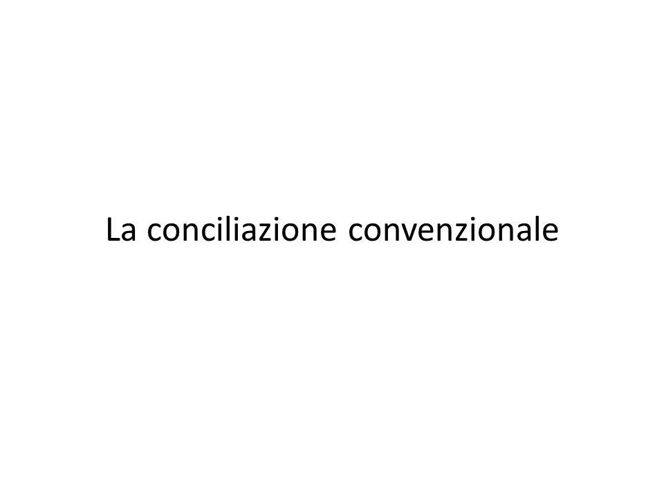 La conciliazione convenzionale