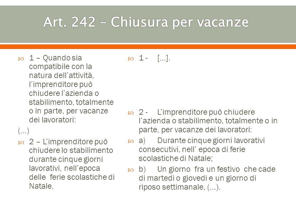 3 – Non è compreso nella nozione di lavoro straordinario: (...) g) Il lavoro eseguito per compensare la chiusura per vacanze prevista nellalinea b) del coma 2 dellart.