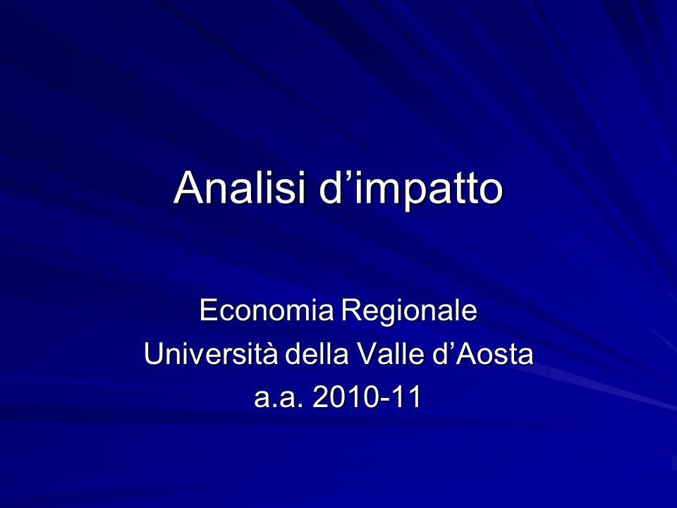 Analisi dimpatto Economia Regionale Università della Valle dAosta a.a. 2010-11