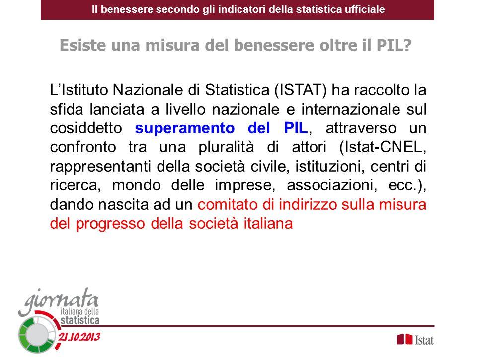 LIstituto Nazionale di Statistica (ISTAT) ha raccolto la sfida lanciata a livello nazionale e internazionale sul cosiddetto superamento del PIL, attra