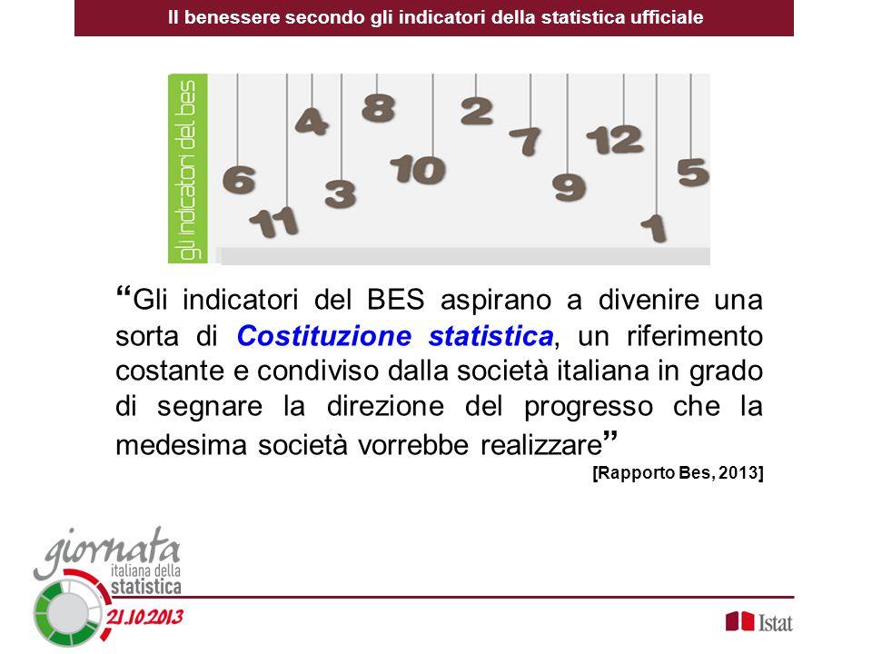 Gli indicatori del BES aspirano a divenire una sorta di Costituzione statistica, un riferimento costante e condiviso dalla società italiana in grado d