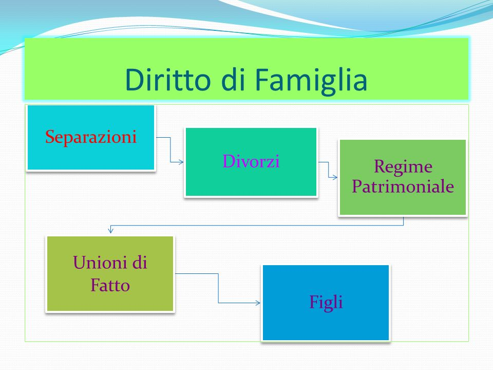 Diritto di Famiglia Separazioni Divorzi Regime Patrimoniale Unioni di Fatto Figli