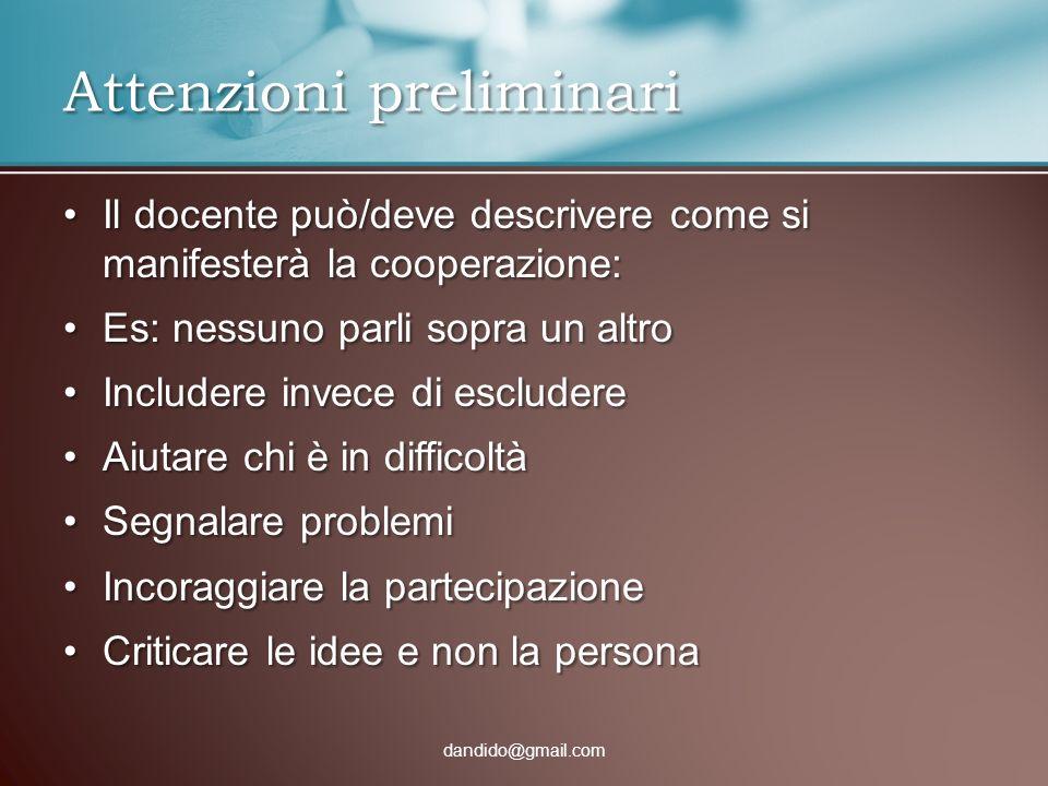 Il docente può/deve descrivere come si manifesterà la cooperazione:Il docente può/deve descrivere come si manifesterà la cooperazione: Es: nessuno par