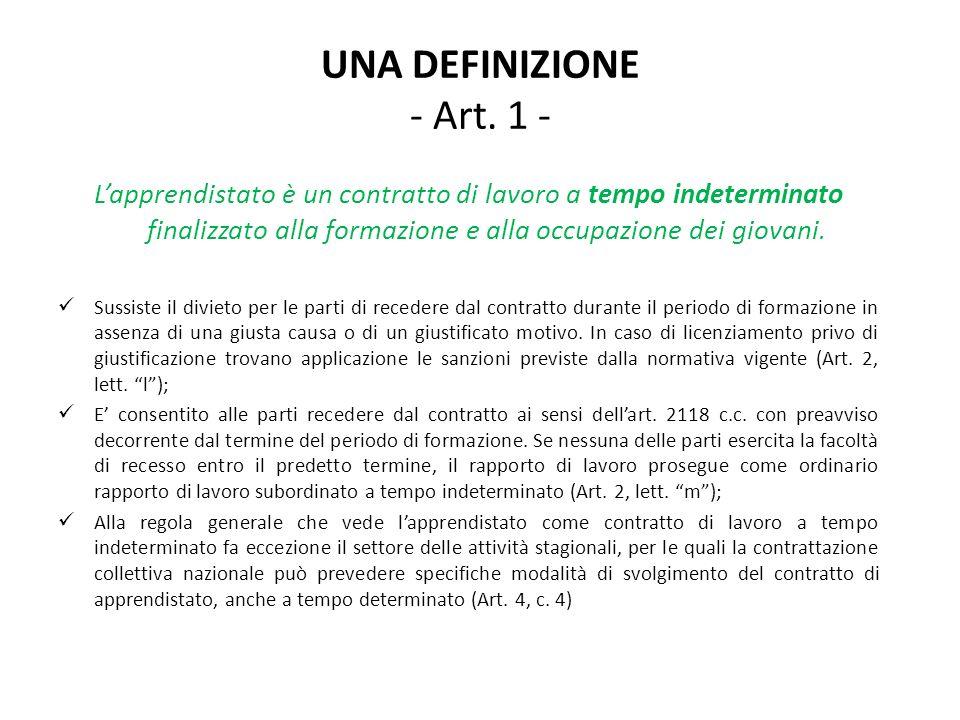 UNA DEFINIZIONE - Art.