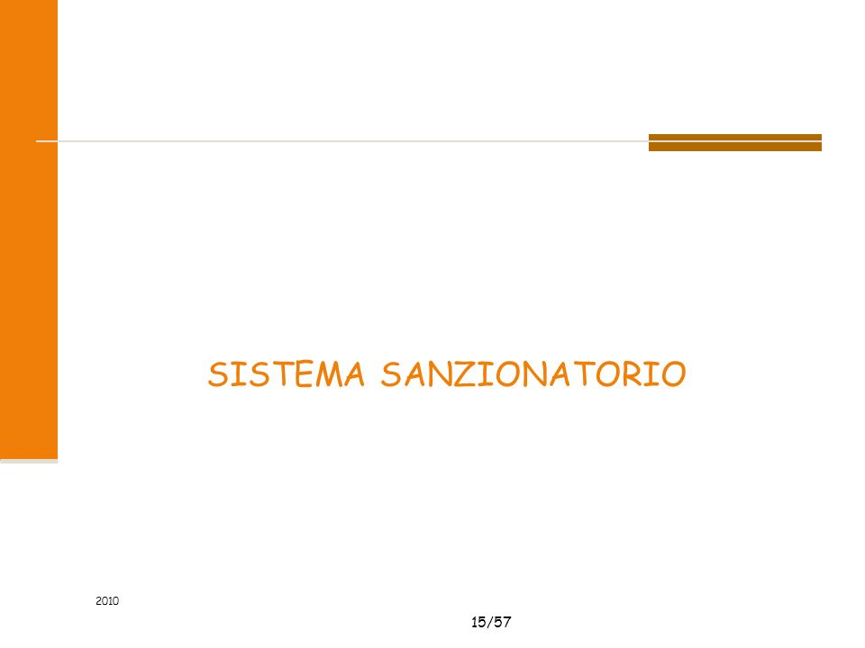 15/57 2010 SISTEMA SANZIONATORIO