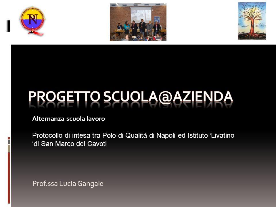 Prof.ssa Lucia Gangale Alternanza scuola lavoro Protocollo di intesa tra Polo di Qualità di Napoli ed Istituto Livatino di San Marco dei Cavoti